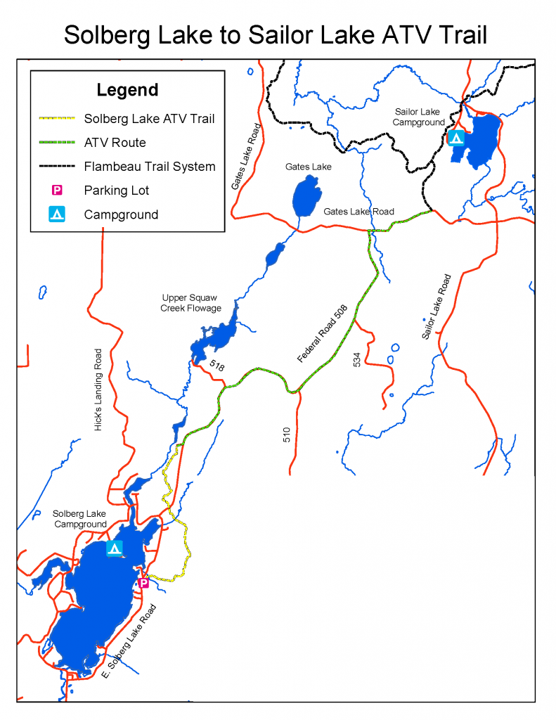 Solberg Trail Map